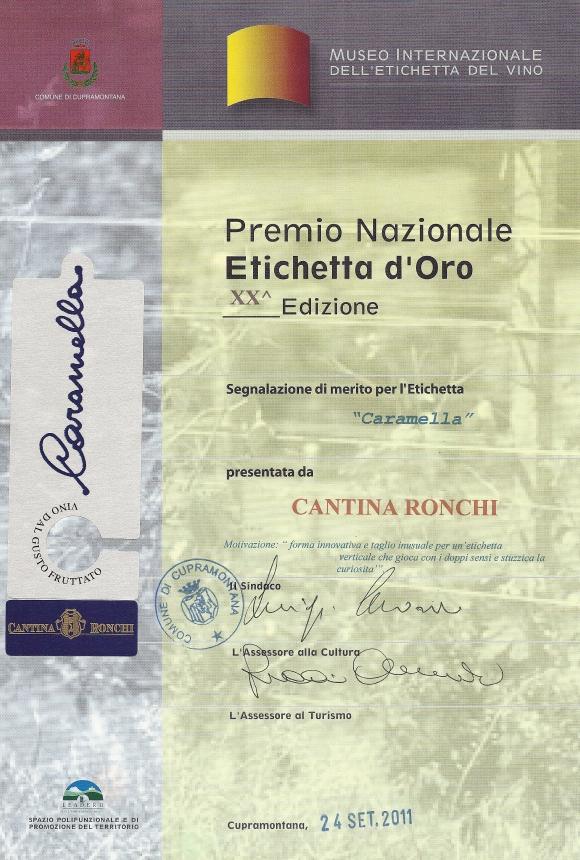 Premio Nazionale Etichetta d'Oro 2011